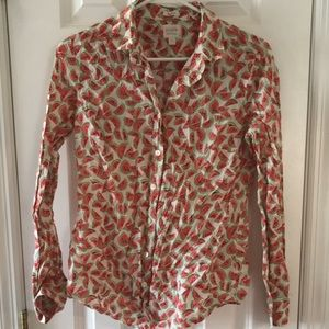 Women's J.Crew perfect fit blouse small